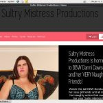 Sultry Mistress Productions Discount On