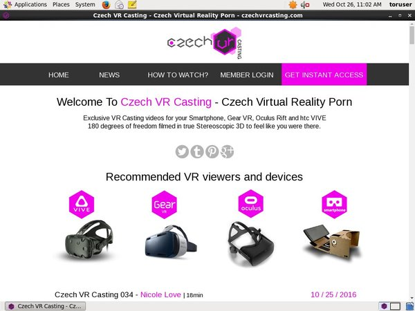 Czech VR Casting Member Account