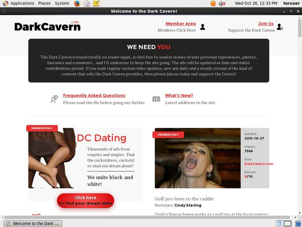 Darkcavern.com Free Sign Up