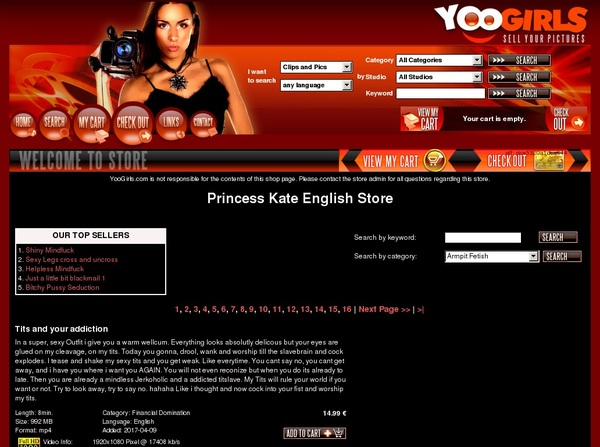 Princess Kate English With Paypal Acc