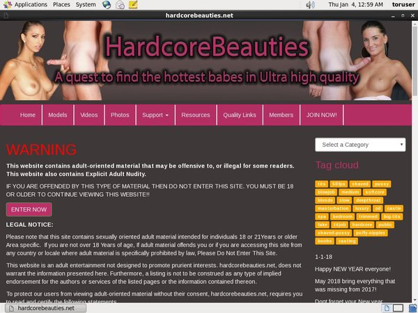 Hardcorebeauties Mobile Account
