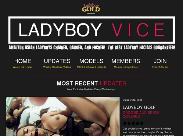 Ladyboy Vice Join By Check