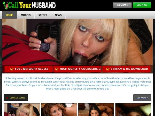New Callyourhusband Discount Promo