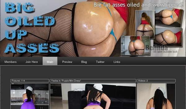 Big Oiled Up Asses Free Login Account